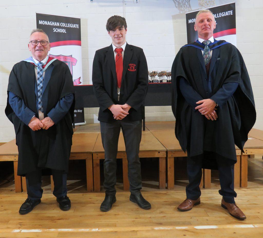 Ethan Graham with Mr Reid & Mr Dugdale