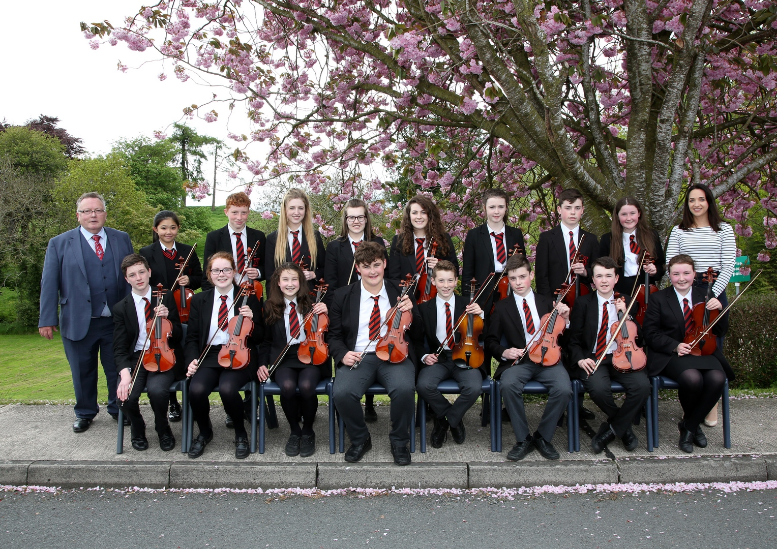 Some members of the School Fiddle Orchestra & Choir