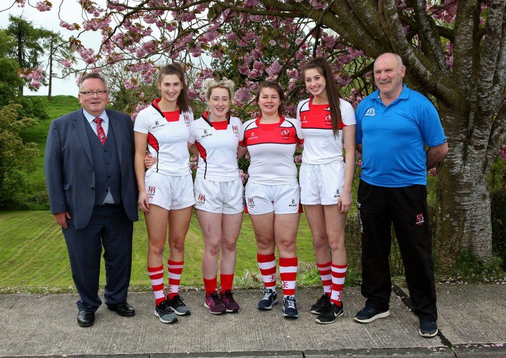 Ulster Girls with Mr. Reid, Lucinda Kinghan, Kelly McCormill, Ella Garland, & Sophie Kinghan & Coach David McGregor